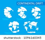 continental drift. illustration ... | Shutterstock . vector #1096160345