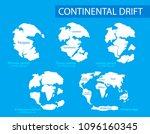 continental drift. illustration ...   Shutterstock . vector #1096160345