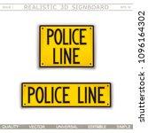 signboard design. police line.... | Shutterstock .eps vector #1096164302