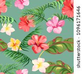 seamless pattern with tropical... | Shutterstock .eps vector #1096171646