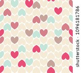 pastel color cute hearts...   Shutterstock .eps vector #1096181786