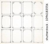collection of twelve high... | Shutterstock .eps vector #1096183556