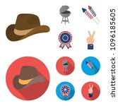 barbecue  salute  voting... | Shutterstock .eps vector #1096185605
