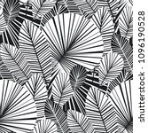 tropical palm leaves seamless... | Shutterstock .eps vector #1096190528
