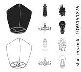 a light lantern  a lighthouse ... | Shutterstock .eps vector #1096191326