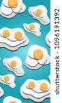 seamless texture of 3d fried... | Shutterstock .eps vector #1096191392