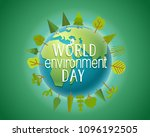 happy world environment day... | Shutterstock .eps vector #1096192505