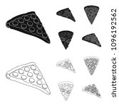 a slice of pizza with different ... | Shutterstock .eps vector #1096192562