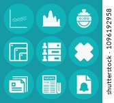 set of 9 interface filled icons ... | Shutterstock .eps vector #1096192958