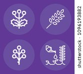 set of 4 plants outline icons... | Shutterstock .eps vector #1096193882