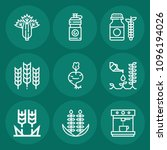 set of 9 food outline icons... | Shutterstock .eps vector #1096194026