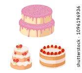 cake and dessert cartoon icons... | Shutterstock .eps vector #1096196936