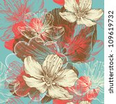seamless floral background with ...
