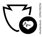 cardio icon and shield....   Shutterstock .eps vector #1096198256