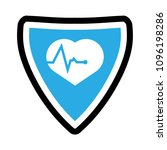 cardio icon and shield....   Shutterstock .eps vector #1096198286