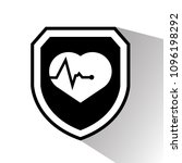 cardio icon and shield....   Shutterstock .eps vector #1096198292