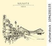 kolkata  india. the british era ...   Shutterstock .eps vector #1096200155