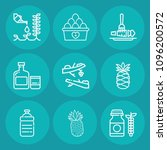 set of 9 food outline icons... | Shutterstock .eps vector #1096200572