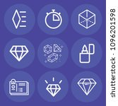set of 9 other outline icons... | Shutterstock .eps vector #1096201598