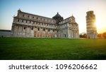 leaning tower of pisa in pisa ... | Shutterstock . vector #1096206662