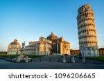 leaning tower of pisa in pisa ... | Shutterstock . vector #1096206665