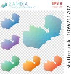 zambia geometric polygonal ... | Shutterstock .eps vector #1096211702