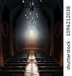 A Dark Grand Church Interior...