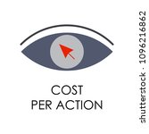colored cost per action... | Shutterstock .eps vector #1096216862