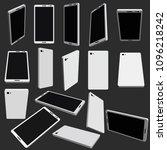 set with phones in different...   Shutterstock .eps vector #1096218242