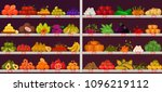 fruits and vegetables at shop... | Shutterstock .eps vector #1096219112