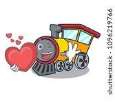 with heart train mascot cartoon ...   Shutterstock .eps vector #1096219766