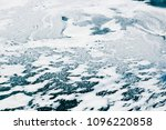frozen lake water covered with... | Shutterstock . vector #1096220858