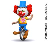 3d funny  cartoon clown... | Shutterstock .eps vector #1096221872