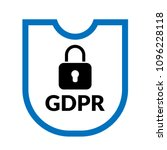 gdpr vector icon. gdpr and... | Shutterstock .eps vector #1096228118