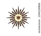retro wall clock isolated.... | Shutterstock .eps vector #1096230806
