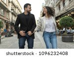 young 30 years old couple... | Shutterstock . vector #1096232408