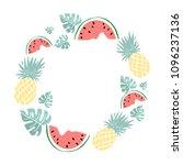 i love summer letting... | Shutterstock .eps vector #1096237136