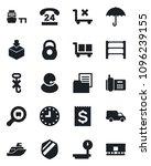set of vector isolated black... | Shutterstock .eps vector #1096239155