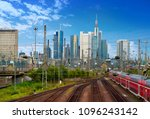 frankfurt skyline from railway... | Shutterstock . vector #1096243142