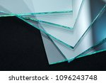 Small photo of Sheets of Factory manufacturing tempered clear float glass panels cut to size