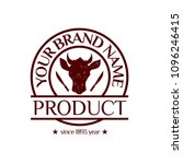 vector logotype  brand identity ... | Shutterstock .eps vector #1096246415