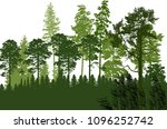 illustration with green forest... | Shutterstock .eps vector #1096252742