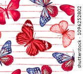 Seamless Pattern. Red And Blue...