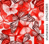 seamless pattern with red... | Shutterstock .eps vector #1096252805