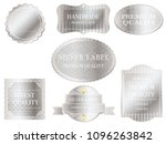 set of assorted silver labels... | Shutterstock .eps vector #1096263842