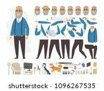 senior man   vector cartoon...   Shutterstock .eps vector #1096267535