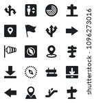 set of vector isolated black... | Shutterstock .eps vector #1096273016