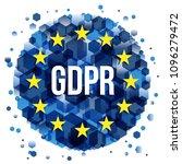 gdpr   general data protection... | Shutterstock .eps vector #1096279472