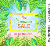 hot summer sale up to 70  off... | Shutterstock .eps vector #1096283948