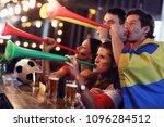 group of friends watching...   Shutterstock . vector #1096284512